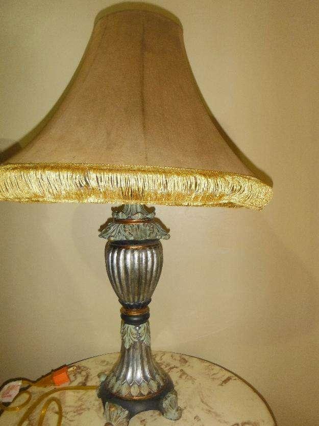 Antigua l mparas de mesa antigua lampara velador de bronce - Lamparas antiguas ...