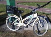 Bicicleta retro con caja SEMINUEVA