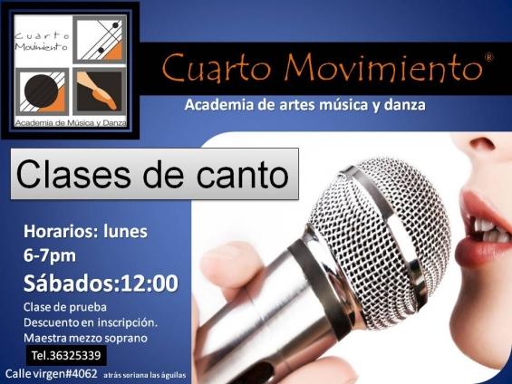 Clases de canto academia de musica y danza cuarto movimiento