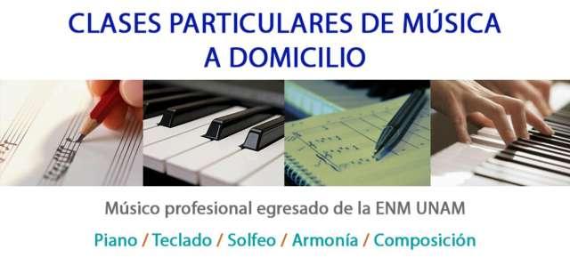 Clases particulares de piano teclado composición solfeo música
