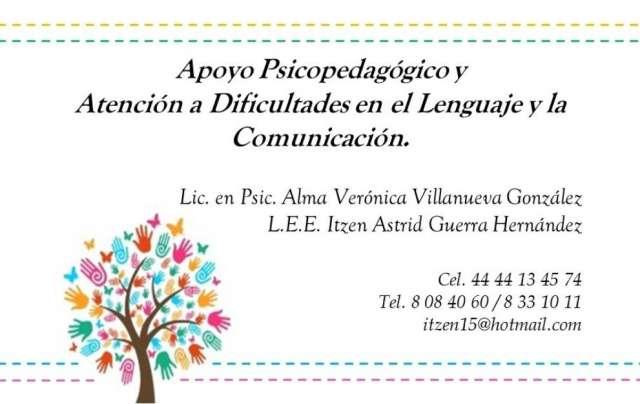 Apoyo psicopedagógico y atención a dificultades en el lenguaje o comunicación.
