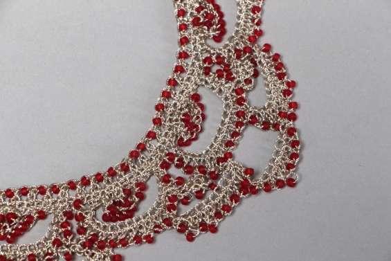 0b6776397440 Collar de moda tejido a ganchillo de hilos en Hermosillo - Joyas ...