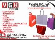 Bolsas promocionales, publicitarias impresas en serigrafia o sin impresion