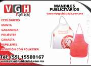 Fabricación de mandiles promocionales, publicitarios, económico, impresos o sin impresion