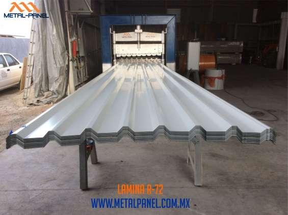 Lamina acanalada r72 (r-72) de acero.- venta, suministro e instalacion profesional garanti