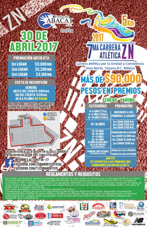 Fotos de 7ma carrera atlética zona norte / 30 de abril - tijuana 5