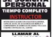 VACANTES DISPONIBLES PARA INSTRUCTOR DE MANEJO