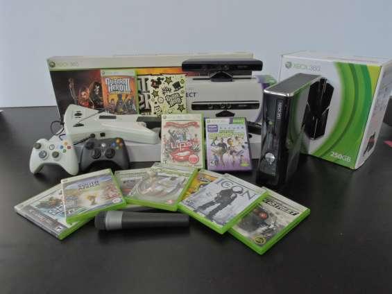 Xbox316 slim 250gb con kinect y juegos varios todos con su caja y manuales