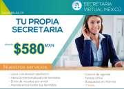 SECRETARIA VIRTUAL desde $580 pesos mensuales