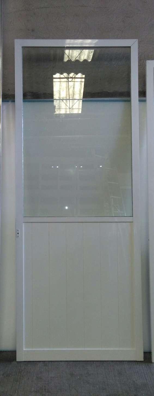 Puerta de aluminio blanco