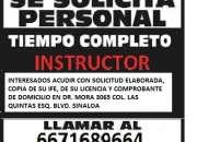 ESTAMOS CONTRATANDO INSTRUCTORES DE MANEJO