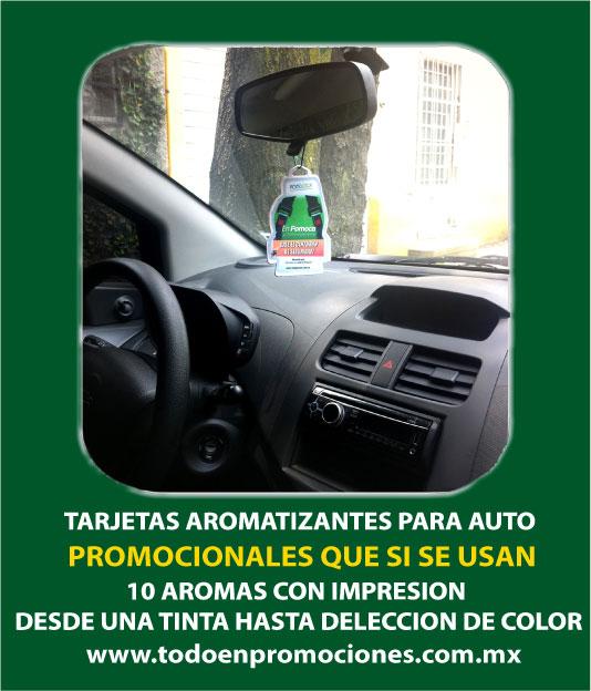 Aromatizantes personalizados para autos