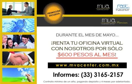 Renta de oficinas virtuales desde $600 pesos