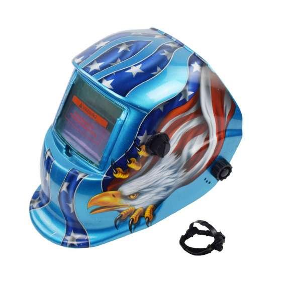Solar powered auto darkening welding helmet s107 a03