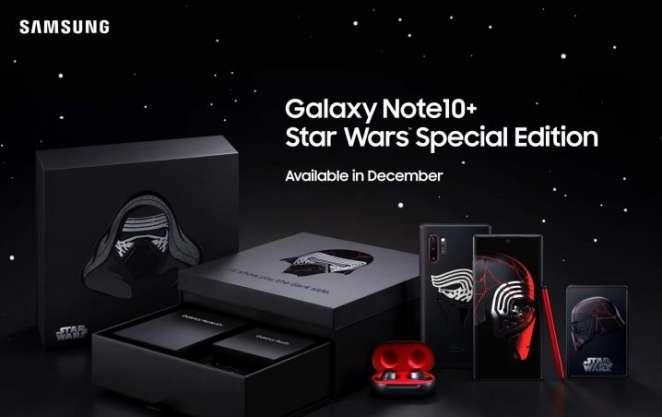 Samsung le rinde tributo a Star Wars y lanza edición especial del Galaxy Note 10+