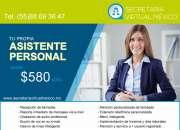 : mi asistente virtual $580 / mes